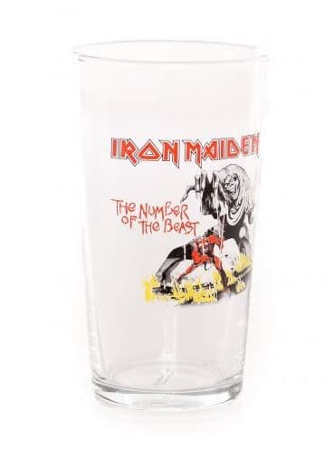 Iron Maiden Number of the Beast Beer Glass (rz)
